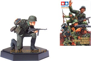 Tamiya 26002, 1:35, German Assault infantry Noncommissioned Officer B (офицер с автоматом и биноклем)