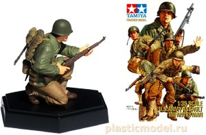 Tamiya 26009, 1:35, U.S. Assault infantry Rifleman B (пехотинец с ружьем)