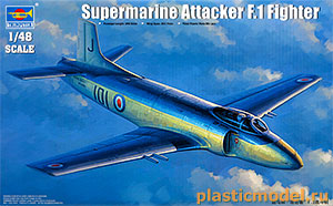 Trumpeter 02866, 1:48, Supermarine Attacker F.1 Fighter (Супермарин «Аттакер» F.1 палубный истребитель)
