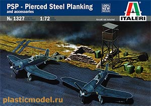1327, 1:72, PSP – Pierced Steel Planking and accessorie (Фрагмент аэродромного покрытия и аксессуары)