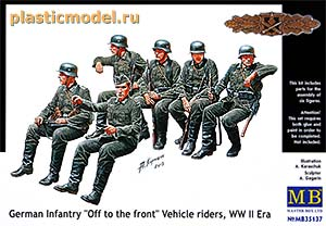 "Master Box 35137 1:35, ""Off to the front"", German Infantry vehicle riders, WWII («На фронт», Немецкая пехота, 2МВ)"