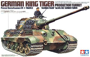 "Tamiya 35164 1:35, German King Tiger ""Production Turret"" / Panzerkampfwagen VI Tiger II ""Könings tiger"" Sd.Kfz.182 Serien turm (Т-VI «Королевский тигр» с башней Хеншель немецкий тяжёлый танк )"