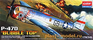 "Academy 12491, 1:72, P-47D ""Bubble Top"" (Рипаблик P-47D «Баблтоп»)"