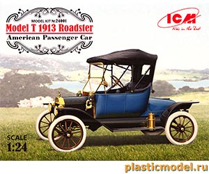 ICM 24001, 1:24, Model T 1913 Roadster american passenger car (Модель Т Родстер 1913 г. американский пассажирский автомобиль)