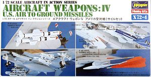 Hasegawa 35004, 1:72, X72-4 Aircraft Weapons:4 U.S. Air to Ground Missiles