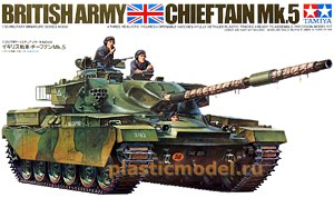 Tamiya 35068, 1:35, Chieftain Mk.5 British Army («Чифтан Mk.5» Британский танк)