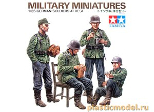 Tamiya 35129, 1:35, German soldiers at rest