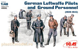 ICM 48082 1:48, German Luftwaffe pilots and ground personnel 1939-1945 (Пилоты и техники Люфтваффе, Германия 1939-1945)
