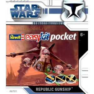 Revell 06729, ----, Republic Gunship - STAR WARS - easykit pocket