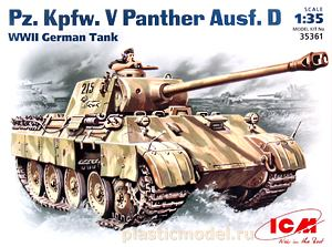 ICM 35361, 1:35, Pz. Kpfw. V Panther Ausf. D German WWII tank (Pz. Kpfw. V «Пантера» Ausf. D немецкий танк)