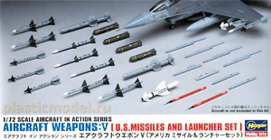 Hasegawa 35009, 1:72, X72-9 Aircraft weapons: 5 U.S. missiles and launcher set