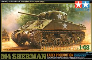 Tamiya 32505, 1:48, M4 Sherman early productionс (Американский танк М4 «Шерман», раннее производство)