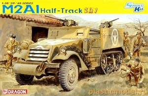 Dragon 6329 1:35, M2A1 Half-Track 2 in 1 (М2А1 / М2 американский полугусеничный бронетранспортёр)