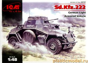 ICM 48191, 1:48, Sd.Kfz.222 German Light Armored vehicle