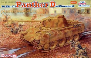 Dragon 6428, 1:35, Sd.Kfz.171 Panther D w/Zimmerit