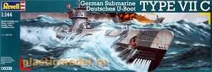 05038, 1:144, German Submarine Type VIIC
