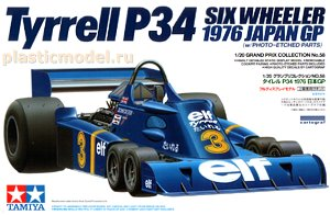 20058, 1:20, Tyrrell P34 six wheeler 1976 Japan GP (w/Photo-Etched parts)
