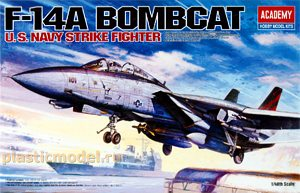 Academy 12206, 1:48, F-14A Bombcat U.S. NAVY strike fighter
