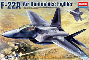 Academy 12212, 1:48, F-22A Air Dominance Fighter