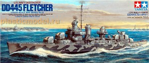 "Tamiya 78012 1:350, U.S. Navy destroyer DD445 ""Fletcher"" (DD445 «Флетчер» Американский эсминец)"
