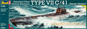 "Revell 05100, 1:144, German Submarine TYPE VII C/41 ""Atlantic Version"" (Немецкая подводная лодка VII C/41 вариант «Атлантика»)"