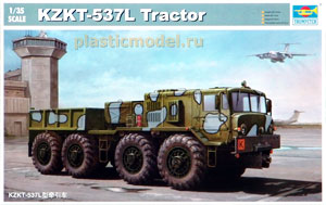 Trumpeter 01005, 1:35, KZKT-537L Tractor (Вездеход МАЗ-537Л)