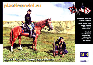 Master Box 3549, 1:35, U.S. Civil War Series: Yankee Scout and Tracker (Гражданская война в США: Cкаут и следопыт)