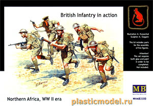 Master Box 3580, 1:35, British Infantry in action, Nothern Africa WWII (Британская пехота в бою, Северная Африка 2МВ)