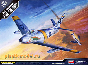 "Academy 12234, 1:48, U.S. Air Force F-86F ""The Huff"" (F-86F «Ярость» ВВС США)"