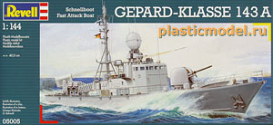 Revell 05005, 1:144, Schnellboot Fast Attack Boat Gepard-Klasse 143A (Ракетный катер тип «Гепард»)