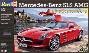 Revell 07100 1:24, Mersedes-Benz SLS AMG (Мерседес-Бенц SLS AMG)