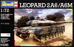 Revell 03180, 1:72, Leopard 2 A6/A6M (Леопард 2 модификации A6/A6M)