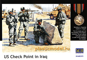 Master Box 3591, 1:35, US Check Point in Iraq (Американский контрольный пункт в Ираке)