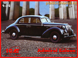 ICM 35472, 1:35, Opel Admiral Saloon WWII German Staff Car (Опель «Адмирал» седан Германский штабной автомобиль, 2МВ)