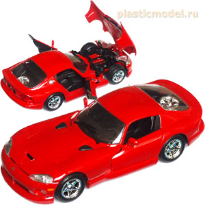 Bburago 18-22048-red 1:24, Dodge Viper GTS coupe red (Додж Вайпер GTS купе красный)