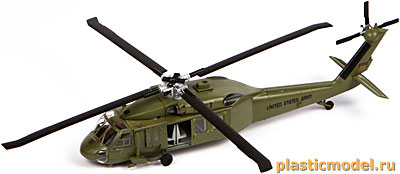 "Easy Model 37017 1:72, American UH-60A ""Black hawk"" (Сикорский UH-60A «Блэк хоук»)"