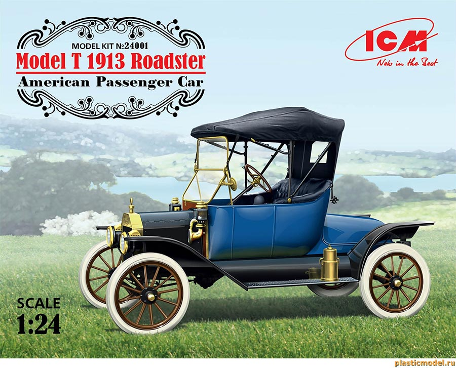 "ICM 24001 ""Model T"" 1913 Roadster american passenger car («Модель Т» Родстер 1913 г. американский пассажирский автомобиль)"
