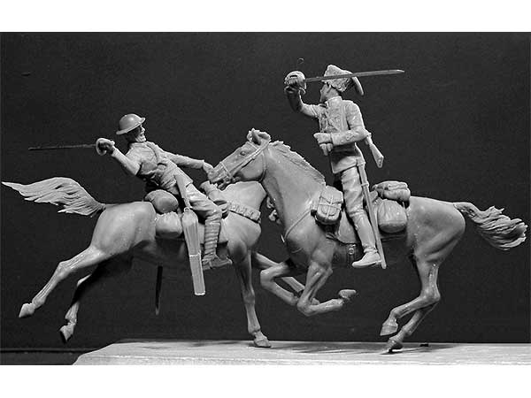 British and German Cavalrumen, WWI era (Британский и Немецкий кавалеристы, Первая Мировая война)