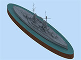"thumbnail for ICM S.014 ""König"", WWI German Battleship, full hull and waterline (Германский линейный корабль «Кёниг» 1МВ)"