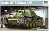 "thumbnail for Trumpeter 09504 Soviet KV-7 ""Object 227"" (КВ-7 «Объект 227» опытная советская тяжёлая самоходная артиллерийская установка)"