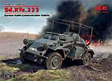 thumbnail for ICM 48192 Sd.Kfz.223 WWII German Radio Communication Vehicle (Sd.Kfz.223, Германский бронеавтомобиль радиосвязи 2МВ)
