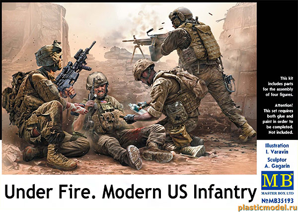 Master Box 35193 Under Fire. Modern US Infantry (Под огнём. Современная американская пехота в бою)
