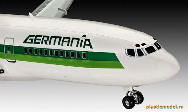 Revell 03946 Boeing 727-100 Germania (Боинг 727-100 пассажирский самолёт немецкой частной авиакомпании «Германиа»)