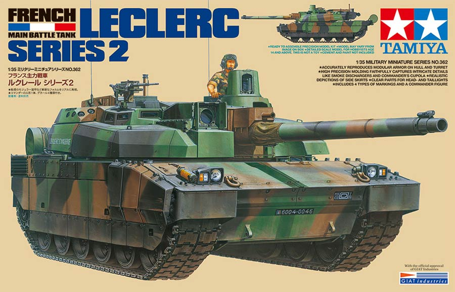 Tamiya 35362 Leclerc Series 2 French Main Battle Tank («Леклерк» 2 серии французский основной боевой танк)