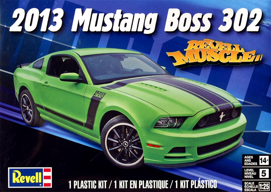 Revell 14187 2013 Mustang Boss 302 (Мустанг «Босс 302» 2013 год)