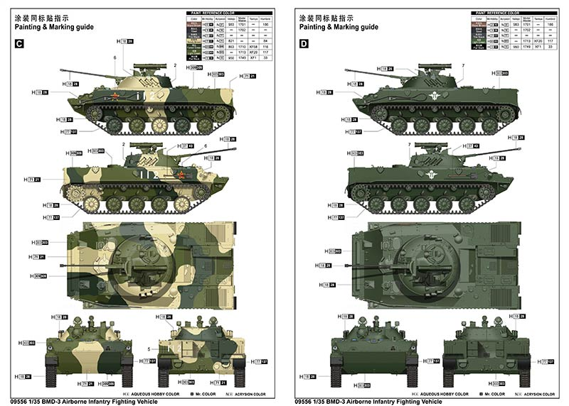 Trumpeter 09556 BMD-3 Airborne Infantry Fighting Vehicle (БМД-3 боевая машина десанта)