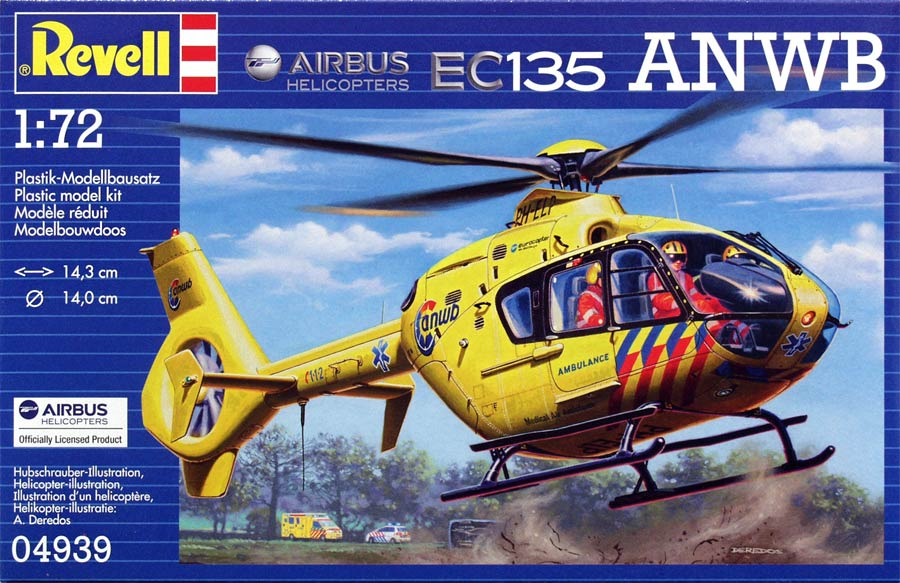 Revell 04939 Airbus Helicopters EC135 ANWB (Эирбас Хеликоптерс E135 ANWB)