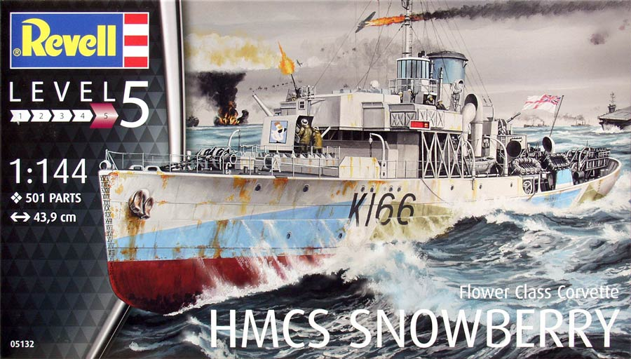 Revell 05132 HMCS Snowberry Flower Class Corvette («Сноуберри» корвет типа «Флауэр», 2МВ)