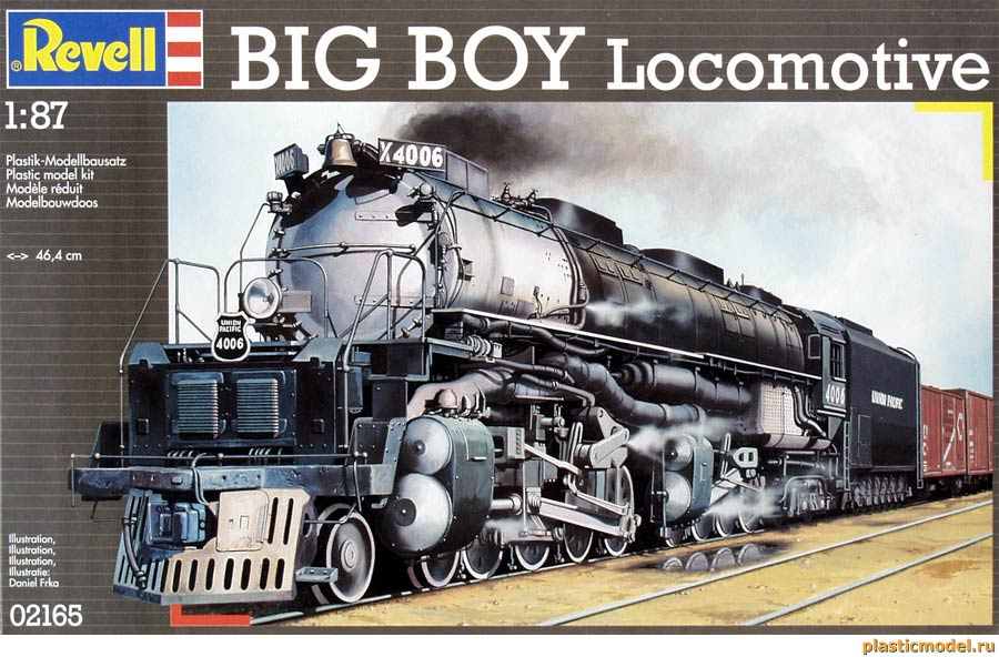 Revell 02165 BIG BOY locomotive (Паровоз «Биг Бой»)