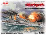 thumbnail for ICM S.017 Markgraf WWI German Battleship, full hull and waterline («Маркграф», Германский линейный корабль 1МВ)